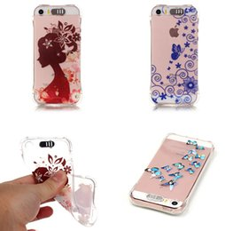 Wholesale Chinese Light Love - Flash Light Diamond Soft TPU Case Clear Flower Cartoon Shoes Dandelion Love Butterfly For Iphone SE 5 5S 6 6S 7 I7 Plus Huawei P9 Honor 5X