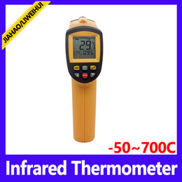 Wholesale Hand Gun Lasers - DHL 20PCS New Non-Contact Hand-held LCD IR Laser Infrared Digital Temperature Meter Thermometer Gun GM320 GM700