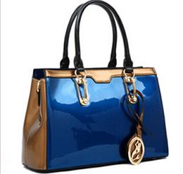 Wholesale Red Patent Bags - NO.1 New 2015 Women's Handbags OL Genuine Leather Handbags Tassel Women Leather Bags Patent Leather Handbags Clutch Bolsas