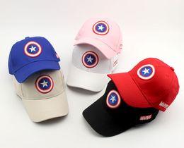 Wholesale Captain Baseball Cap - Captain America Children's baseball cap summer hot sun hat The boys and girls spring peaked cap hip-hop cap visor