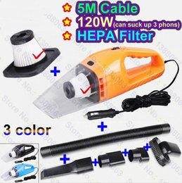Wholesale Powered Mercedes - 2017 new Portable 12V Car Vacuum Cleaner Wet Dry Super Suction 120W power Mercedes Benz w204 w203 w211 w205