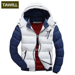 Wholesale Hats Asian - Wholesale-TAWILL Fashion Men Jackets Coats Autumn Casual Winter Jacket Men 2017 New Brand Clothing Asian size 78