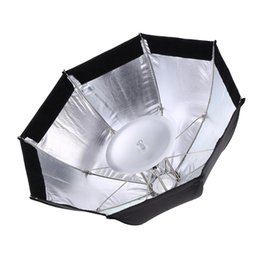 Wholesale Octagon Umbrella Softbox - Wholesale- Godox S7 48cm Foldable Softbox Octagon Umbrella Diffuser Reflector Photo Lighting Kit for WITSTRO AD360 AD180 AD200 Speedlight