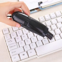 Wholesale Vacuum Cleaner For Pc - Mini USB Vacuum Cleaner Laptop Computer Keyboards Brush Vacuum Keyboard Cleaner Brush For PC Laptop Computer USB Powered Mini Vacuum Cleaner