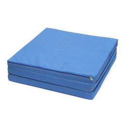 Wholesale Gym Sport Gymnastics - 180x60x5cm Multifunctional Oxford Blue Folding Foldable Gym Mat Gymnastics Aerobics Exercise Sports Yoga Pilates Tumbling Mats