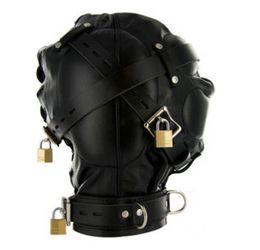 2019 máscara sexo para os homens Sensível Privação Capa Gimp Máscara Blindfold Fetish Bondage Roleplay Submissão # R172