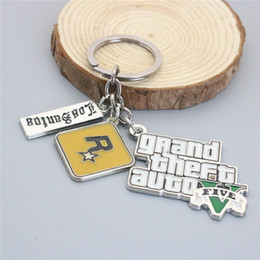 Wholesale Grand Games - Grand Theft Auto 5 Game Jewelry Key Chain Alloy GTA 5 Keychian & Car Key Rings For Gift