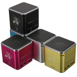 Wholesale Digital Sound Box Speaker - MD07U USB Micro Mini Portable FM TF Card Sound Music Stereo Box Player Digital Speaker Amplifier Reader for Mobile Phone