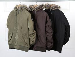 Wholesale Hot Cool Wear - Wholesale- Europe High Street Blue Jacket Men Cool Hip Hop Wear Hot Selling Winter Break Jacket Men Designer Jersey Size M-XXL