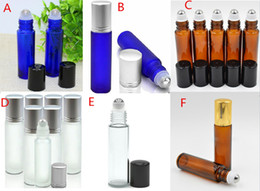 Wholesale Rolled Steel Prices - Wholesale Price 750Pcs 10ml Colorful Frosted Glass Roller Bottles Stainless Steel Roll On Bottles by Free DH Shippig