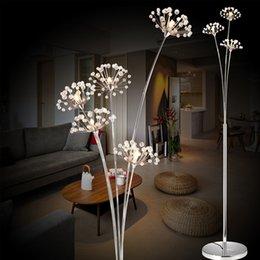 Wholesale Living Room Halogen Floor Lamp - Modern Creative Floor Lamp Bedroom Bedside Crystal Floor Lamp for Living Room LED Flower Floor Lamp Stand Light