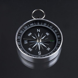 Wholesale-1pc Pocket Mini Camping Hiking Compasses Lightweight Aluminum Outdoor Travel Compass Navigation Wild Survival Tool Black от