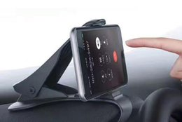Wholesale Cradle Designs - Car Mount Cradle Dashboard Phone Holder For iPhone 8 Adjustable HUD Simulating Design Car Stand Mount For Samsung S8 with Retail Box