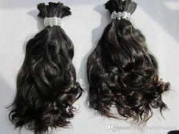 Argentina balck color ondulado ondulado 6A grado brasileño 100% cabello humano cabello humano a granel con textura muy suave y sedosa, 100g / paquete Suministro