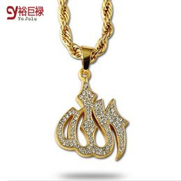 Wholesale Big White Head - Hip Hop Gold Necklace Men Women Jewelry Figaro Chain Vintage Platinum 18K Real Gold Plated Big Lion Head Pendant Necklace