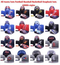Wholesale Wholesale Custom Embroidered Snapback Hats - Custom snapback Fashion Street Headwear adjustable size all teams football caps top quality Sports baseball Hats basketball caps 10000+hats