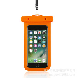 Wholesale I Phone Fashion Case - 5.5 inch PVC iPhone waterproof case Dry bags Waterproof Phone Bags with mini swich for most i Phone smart phones