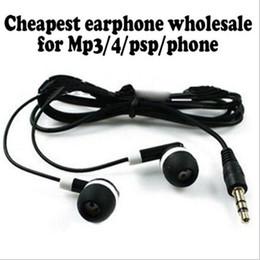 Wholesale Cost Headphones - Wholesale 100pcs Disposable earphones headphones low cost earbuds for Theatre Museum School library,hotel,hospital Gift