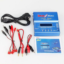 Wholesale Nimh Charger Lcd - 80W iMAX B6AC B6 AC Dual Power LCD Control Digital Lipo Lipro NiMH 3S 4S 5S RC Battery Balance Charger Batteries Discharger EU AU US UK PLUG