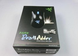 Wholesale Razer Game Mouse - Razer Death Adder OEM Version Upgraded Gaming mouse 3500dpi Brand New laptop Game mouse Factory Price Blue light wired usb mouse