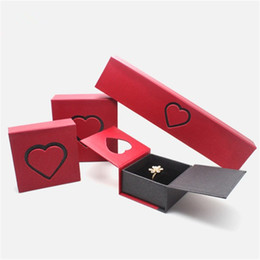 Wholesale Love Express - High Quality Heart Jewelry Box For Necklace Earrings Ring Bracelet Bangle Cuff Pendant Packaging And Display Express My Love