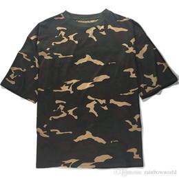 Wholesale Blank Tee Top Shirts - men's T Shirt Kanye West Extended T-Shirt Men's clothing Curved Hem Long line Tops Tees Hip Hop Urban Blank Justin Bieber Shirts T