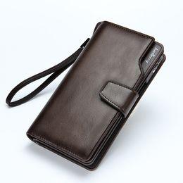 Wholesale Bags Clutch Clear - 2017 New men wallets Casual wallet men purse Clutch bag Brand leather wallet long design men bag