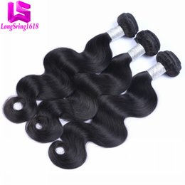 Wholesale Brazillian Virgin Hair Waves - Brazilian Virgin Human Hair Body Wave Unprocessed Brazillian Peruvian Indian Malaysian Cambodian Body Wave Remy Human Hair Extensions
