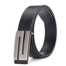 Wholesale Cowhide Belts - 100% cowhide genuine leather belts for men Strap male Smooth buckle vintage jeans cowboy Casual designer brand belt
