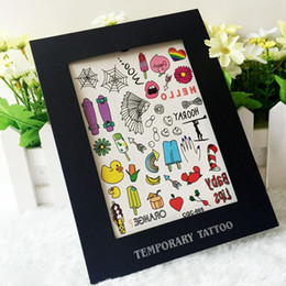 Wholesale Custom Face Tattoo Stickers - Free Shipping 12 Kinds Mixed Sexy Water Transfer custom Hawaii design Removable adhesive Skin Flowers Magic Gift Tattoo Stickers