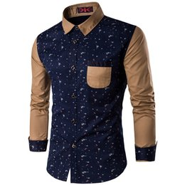 Wholesale Collar Hombre - Wholesale- Polka Dot Shirt Men 2017 Spring New Long Sleeve Mens Dress Shirts Casual Slim Fit Chemise Homme Camisa Hombre Plus Size 5XL