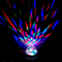 Wholesale Wholesale Led Light Bar Brands - Brand new Crystal Magic Ball Effect Stage Lights Led E27 3W RGB Rotating Lamp For Party Disco DJ Bar free shipping