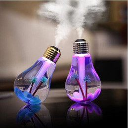 Wholesale Wholesale Mist Lamps - Newest Aromatherapy Diffuser USB Lamp Bulb Humidifier Home Aroma LED Air Purifier Atomizer For Car Use Mute ABS