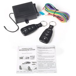 Wholesale Central Lock Alarm - Universal Car Central Door Locking Keyless Entry System + 2 Remote Control M00031