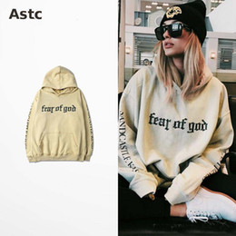 Wholesale Hiphop Sweatshirts - Fear Of God Hoodie Beige Purpose Tour Sweatshirt Gorilla Wear Hiphop Sweatshirt Skateboard Wes High Quality hot saleTracksuit Men Brand