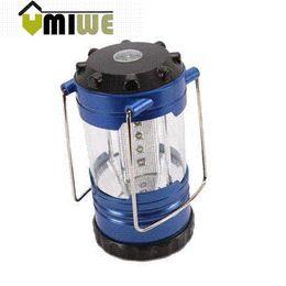 Wholesale Cheap Lanterns Lights - Umiwe 12 LED Portable Camping Camp Lantern Light Lamp With Compass,Blue Portable Lanterns Cheap Portable Lanterns