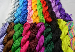 Wholesale 1mm Chinese Nylon Knot Cord - 20pcs 1mm 25M Roll mixture Nylon Cord Thread Chinese Knot Macrame Bracelet String DIY