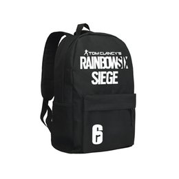 Wholesale women adult backpack - Tom Clancy's Rainbow Six Siege Backpacks Adults Online Game Character Mochila Teenagers Travel Bag Children School Backpack