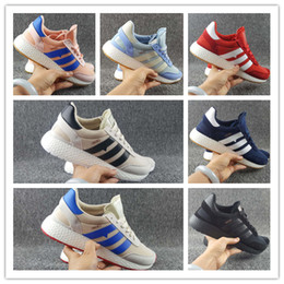 Wholesale High Fashion Red Shoes Men - 2017 High Quality Iniki Runner Boost Sneakers Fashion Iniki Boost Women Men Red Blue Leather Sports Running Shoes Size 36-45