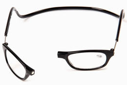 Wholesale vision ship - Wholesale New Arrival Hot Selling Magnetic Reading Glasses black brown purple red gray Vision Care Free Shipping