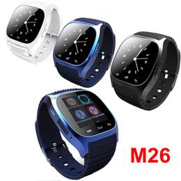 Часы Smartwach носимых устройств Bluetooth смарт часы M26 часы для iPhone iOS андроид окна телефон носить подключен DHL бесплатная OTH076 от