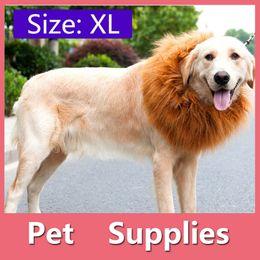 Wholesale Fancy Ornaments - 4Size Pet Dog Cat Lion Wigs Mane Hair Festival Party Fancy Dress Clothes Costume Halloween Costume
