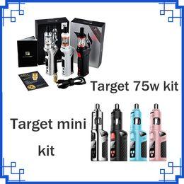 Wholesale Vaporesso Target Vtc 75w - Vaporesso TARGET 75W VTC Starter Kit With Ceramic CCELL Tank Vaporesso Target Mini Starter Kit 1400mAh VS Alien 220w stick v8 DHL