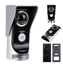 Wholesale Doorbell Rainproof - Wifi doorbell video peephole 0.3M pixels CMOS door camera IR Night vision PIR Motion Sensor Rainproof peephole camera door bell