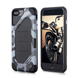 Wholesale New Arrival Mobile Phone Cases - Army Camouflage Phone Case for iphone X 8 7 6 6S Plus 5 5s SE TPU+PC Shockproof Back Cover Case New Arrival Mobile Phone Accessories OPP Bag