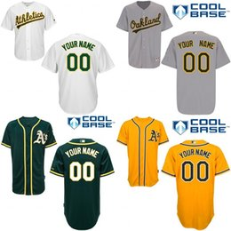 Wholesale Boys Athletic Shorts Xl - youth Custom Oakland Athletics Baseball Jersey Personialie Jersey kids White Grey Yellow Green Shirt Stitched Authentic Jerseyzed S-XL