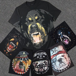 Wholesale Army Dog Shirt - 2016 With Brand Tag and Label Famous Luxury Brand High Quality new fashion Rottweiler dog tee t shirts for men women cotton