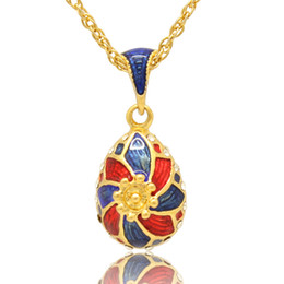 windmill pendant Coupons - Windmill pendant Faberge Egg necklace Hand crafted Enamel colors Faberge egg Russian style for Easter day