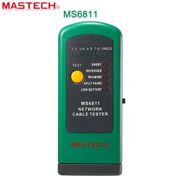 Wholesale Mastech Digital Meter - Wholesale-MASTECH MS6811 digital network cable tester with UTP and STP wiring Checks Test Meter