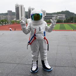 2017 Sıcak Satış! Yüksek Kaliteli Uzay takım maskot kostüm Astronot maskot kostüm LOGO eldiven ile Sırt Çantası ile nereden